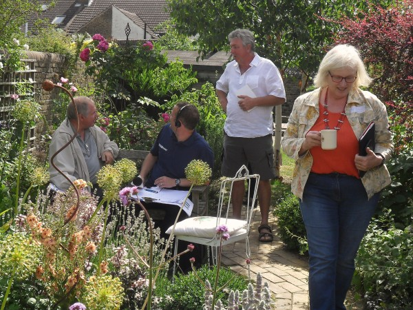 Radio Kent broadcasting live from behind the lavender